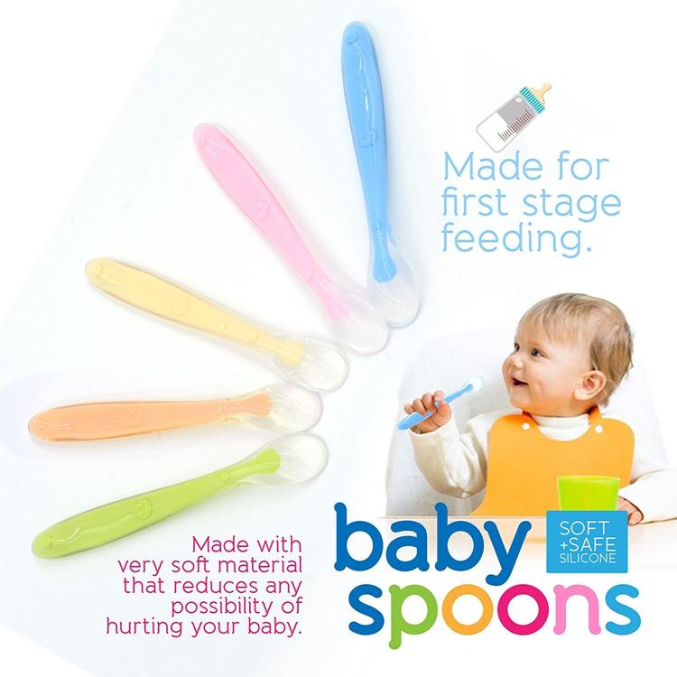 Baby-Trainings-Geschirr Babyl/öffel mit weichem Silikon-Material
