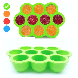 10 Cavity FDA approved silicone baby food storage container, BPA free silicone baby food freezer tray