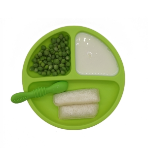 100% Silicone Plates for Toddlers Non-Toxic, BPA Free Divided Baby Plates