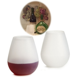 12oz  Food Grade & Dishwasher Safe Silicone Wine Glasses Wholesaler