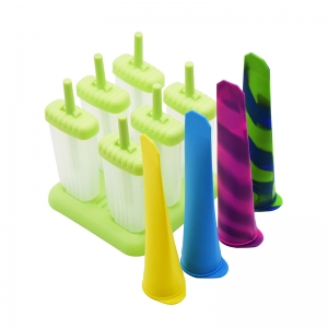 2018 Summer Hot Food Grade Material Plastic Popsicle Mold Silicone popsicle tube Set