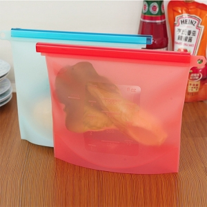 4-PACK Reusable Silicone Food Bag Preservation Storage Container Bag Food Grade Storage Bag