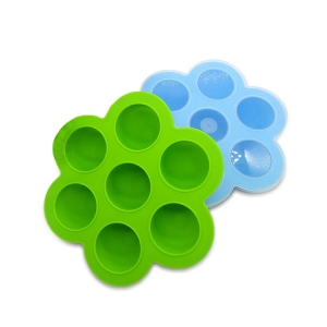 BPA Free 7 cavity silicone baby food storage containers , food storage box for baby