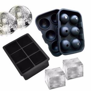 Cubes glaçons gros cube carré plateau moules Whiskey Balle Cocktails silicone Big