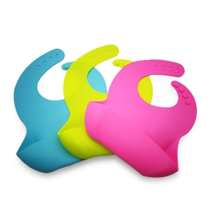 BPA Free Reusable Soft Silicone Baby bib, Waterproof Silicone Baby Bib