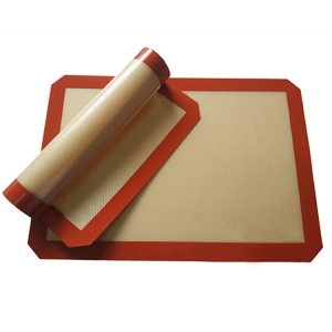 Benhaida Silicone Baking Mat - Set of 2 Half Sheet Non Stick Silicon Liner for Bake Pans
