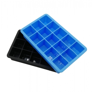 China Factory 15 Cubes Silicone Ice Cube Tray Chocolate Mol