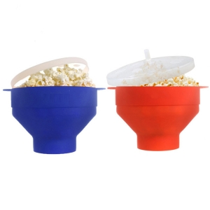 China Microwave Air Popcorn Popper factory,Silicone Popcorn Maker Bowl