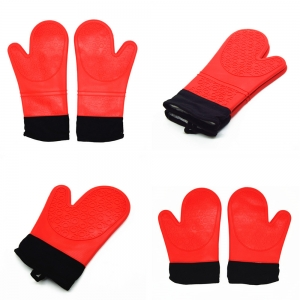 China Silicone Oven Mitts Supplier, Heat Resistant Silicone BBQ Grill Oven Gloves, Silicone BBQ Grill Oven Mitt