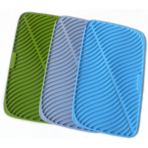 China Wholesale Antibacterial,Dishwasher Safe silicone drying mat,Heat Resistant Silicone Dish Drying mat