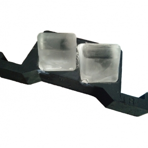 Chinese Factory Direct 2 Big Clear Square Ice Cube Mold,Slow-Melting Silicone Crystal Ice Mold