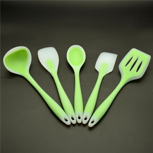 Chinese Supplier 5 piece Nylon Core Premium Silcone Cooking Utensils Set