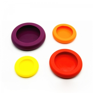 Chinese Supplier Factory Price Set of 4 Silicone lids for fruit, Food Fresh Saver