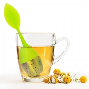 Chinese Supplier Loose leaf shaped durable silicone tea infuser, infuser with stainless steel bottom