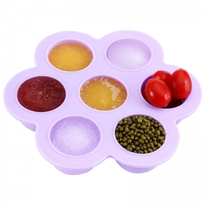 Factory Direct FDA Silicone 7 Cavity Baby feeding Bowl, Baby Food Container