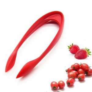 Factory LFGB Plastic Easy-Release Strawberry Huller and Tomato Corer