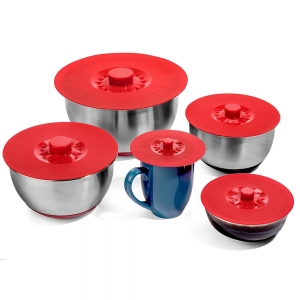 Factory Supply Packs of 5 Pot Lid Set BPA free Silicone Pot Cover / Silicone Pot Lid / Silicone Lids Set for Bowl