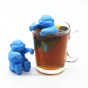 Gift set Bulk Animals shape otter tea Filter infuser , Silicone Tea Strainer