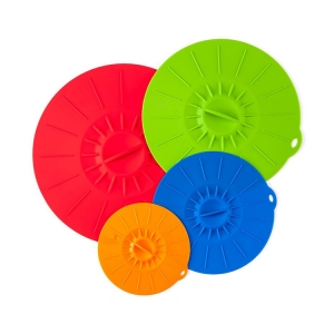 Home Silicone Suction Lids and Food Covers - Set of 4 - FDA approve silicone lids