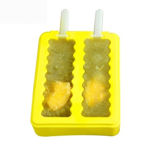 Ice Pop Molds Soft Popsicle Moules Ice Pop Makers Avec couvercle Reusable Silicone Molds 2 Formes différentes glace popsicle