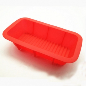 Manufacturer Large Rectangle Silicone Bread Loaf Pan with Spatula