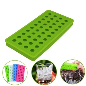 Mini Silicone 40 Cavities Ice Ball / Ice Cubes DIY Molds / Candy Beads Marbles Grain Coffee Fruit Grain Lovely Ice Particles