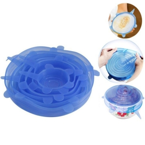 Multi 8 pack Silicone Food Covers Suction Lids, BPA Free Silicone Flexible Stretch Lids