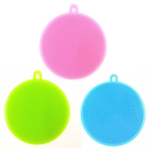 Multipurpose Reusable Silicone Kitchen Cleaning Brush Washing Scrubber Sponge