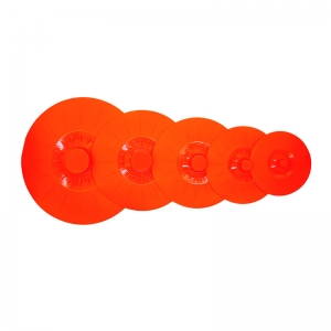 New Arrival Factory Direct Light Cheap Practical Silicone Suction lids set of 5