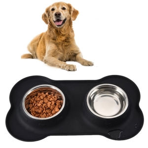 New Design Stainless Steel Dog Food Bowl Supreme Silicone Dog Bowl Easy Wash Silicone Dog Food Bowl