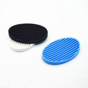 New arrival ! Flexible Silicone Shower Soap Dish Set, Soap Saver Holder,Oval Concave