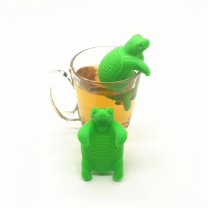 New design ! Creative Silicone Tea Turtle Infuser, Green
