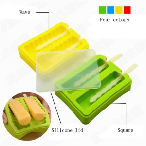 Silicone ice pop Maker mold for Homemade, Silicone popsicle with two stick