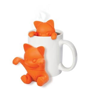 Wholesale Cute Animal Promotional Gift Silicone Kit-Tea Tea Infuser, Kitty Cat silicone Loose Leaf Steeper