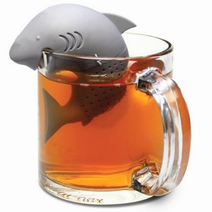 Wholesale Cute Shark Silicone Infuser Loose Tea Infuser,  Sharks Tea Infuser Tea Steeper