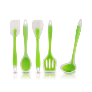 Wholesale kitchen utensils silicone spatula set , BPA Free cooking utensil