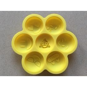 100% FDA Food Grade BPA Free Nonstick Silicone Emoji Cake Mold, Smiley Silicone Baking Pan