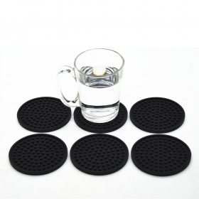 China 1pc Non-Slip Silicone Drink Coaster mat ,Protect Furniture Against Spills factory