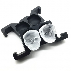 China 2 Cavities Jumbo Skull Ice Cubes Kitchen Bar Tools, Crystal ice ball mold for Whiskey factory