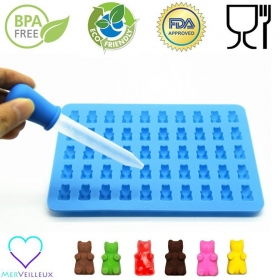 Chine 50 Cavity Gummy bear Maker BPA Sans silicone en silicone usine
