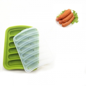 China 6 Cavities Silicone Sausage Hot Dogs Mold, Silicone Molds for Ice cube tray baking mold factory