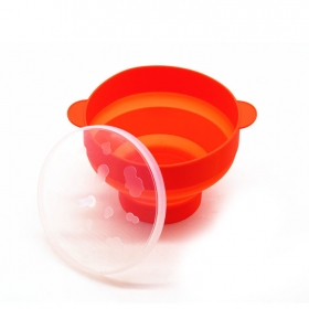 Amazon Hot selling Microwave Popcorn Popper with Lid, Foldable Silicone Hot Air Popcorn Maker