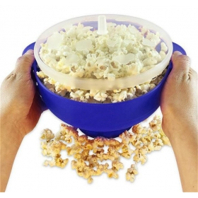 Amazon Magic Microwave Hot Air Popcorn Popper,Foldable Silicone Popcorn Maker with Lid