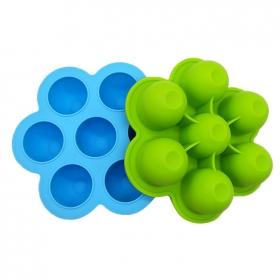 China Amazon hot sale Silicone Egg Bites Molds, Food Grade Baby Food Storage factory