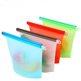 BHD BPA Free Leakproof Fresh Reusable Silicone Food Storage Bags