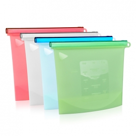 China BHD BPA Free reusable Container Versatile Cooking silicone food storage bags factory