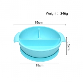China BPA Free Benhaida Silicone Baby Bowl Spill Proof Feeding Bowl with Suction Cup Base set fabriek