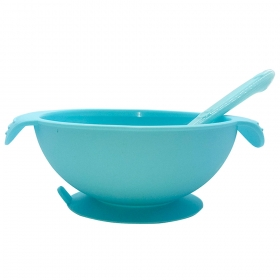 China BPA Free Silicone Bowl Baby Silicone Bowl with Spoon factory