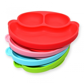 Benhaida BPA Free Toddlers Silicone Baby Placemat, Silicone Suction Baby Plates