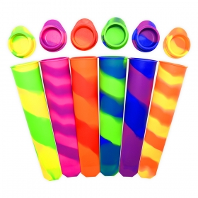 China Benhaida Set Of 6 FDA approved Silicone Ice Pop DIY lolly silicone popsicle mold factory
